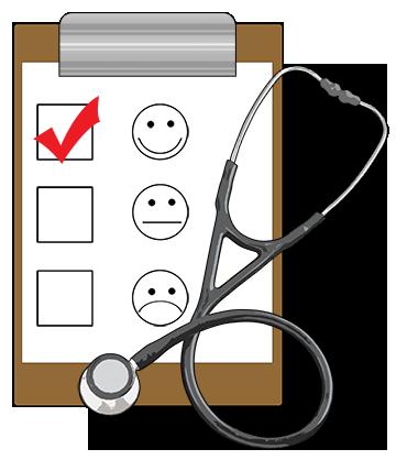 Health survey clip board